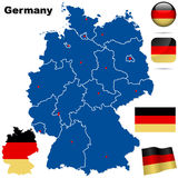 Germany vector set. Royalty Free Stock Photos
