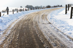Germany, View of road during wintertime Stock Image