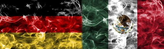 Germany vs Mexico smoke flag, group F, Fifa football world cup 2. 018, Moscow, Russia Stock Photo