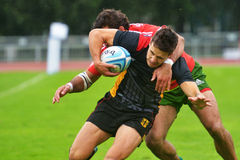 Germany vs Portugal in Rugby 7 Grand Prix Series in Moscow Royalty Free Stock Images