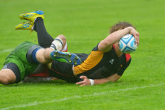 Germany vs Portugal in Rugby 7 Grand Prix Series in Moscow Stock Photography