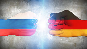 Germany vs Russia. Fists Punch Stock Photography