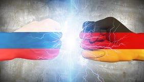 Germany vs Russia Stock Photo