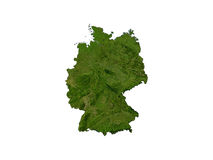 Germany On White Background Royalty Free Stock Images