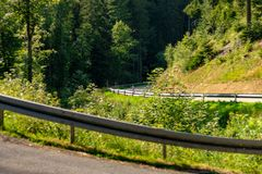 GERMANY Winding Roud in the Middle of the Black Forest royalty free stock photo