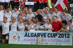 Germany wins Algarve Cup 2012 Stock Images