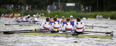 Germany wins women's four Stock Images
