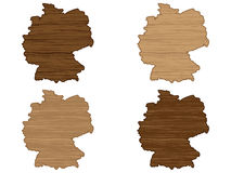 Germany wooden map Stock Images