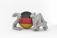Germany world cup 2014. On white background Stock Images