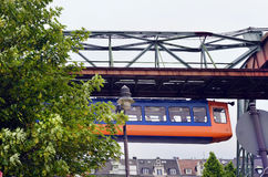 Germany, Wuppertal. Wuppertal, North Rhine-Westphalia, Germany - May 27th 2011: Unidentified people in public overhead train, usual mode of transport in the city Royalty Free Stock Images