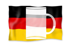 Germanys true national flag with beer Stock Photography