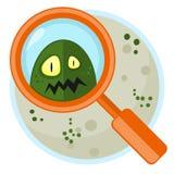 Germen en la placa de Petri Fotografía de archivo libre de regalías