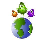 Germes de Superbug sur le monde illustration libre de droits