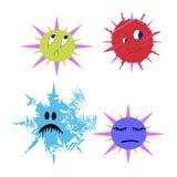 Germes e vetor da bactéria dos erros cómico Fotografia de Stock