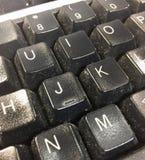 Germes em um teclado imagens de stock royalty free