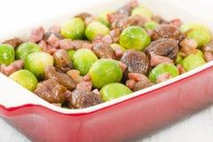 Germogli, castagne & bacon Fotografie Stock Libere da Diritti