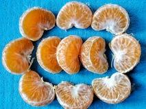 Germogli del mandarino Fotografie Stock