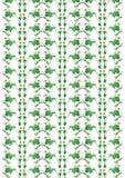Germogli ed ornamento delle foglie Immagine Stock