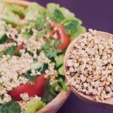 germogli Grano saraceno verde salute vegetarianism Insalata Fotografia Stock Libera da Diritti