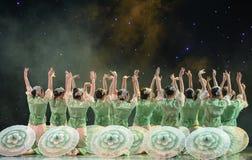 Germogliare-gelsomino nella danza popolare di pittura-cinese del lavaggio e dell'inchiostro Fotografie Stock