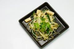 Germoglio fritto con il tofu immagini stock libere da diritti