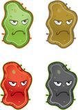 Germs. A variety of different colored germs Royalty Free Stock Image