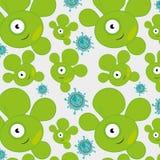 Germs and bacteria cartoon Stock Photos