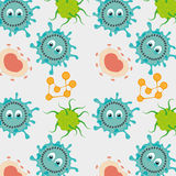 Germs and bacteria cartoon. Graphic design,  illustration eps10 Stock Images