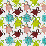 Germs and bacteria cartoon Royalty Free Stock Photography