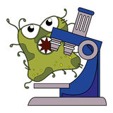 Germs and bacteria cartoon Stock Photography
