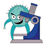 Germs and bacteria cartoon. Graphic design,  illustration eps10 Stock Photo