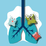 Germs and bacteria cartoon Royalty Free Stock Images