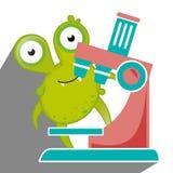 Germs and bacteria cartoon Stock Photo