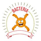 Germs and bacteria cartoon Royalty Free Stock Photo