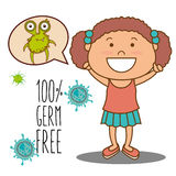 Germs and bacteria cartoon Stock Images