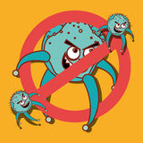 Germs and bacteria cartoon Stock Image