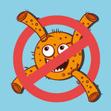 Germs and bacteria cartoon Royalty Free Stock Image