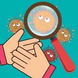 Germs and bacteria cartoon Royalty Free Stock Photos