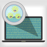 Germs on laptop Royalty Free Stock Image