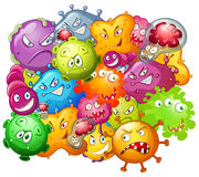 Germs with monster face Royalty Free Stock Photo