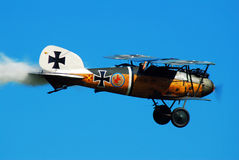 Gernam Albatros D Va. A Gernam Albatros D Va Rules the Sky on this Day Royalty Free Stock Photos