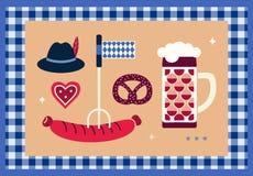 手拉的慕尼黑啤酒节设计元素 库存例证