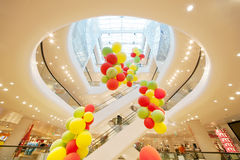 Gerngross - shopping center with balloons Royalty Free Stock Photo