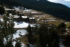 Geroepen berghuizen, royalty-vrije stock foto's