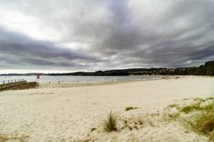 Geroepen strand Royalty-vrije Stock Foto