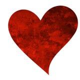 Geroest hart vector illustratie