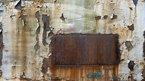 Geroest metaal met afgebroken verf Stock Foto's