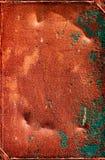 Geroest Metaal met Groene Verf Stock Afbeelding