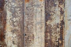 Geroest op oppervlakte van het oude ijzer, Verslechtering van het staal, D royalty-vrije stock foto