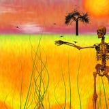 Geroest skelet vector illustratie